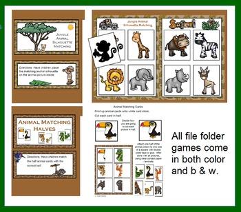 Jungle Fun File Folder Games