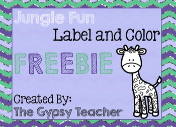 Jungle Fun Label and Color FREE [A Writing Activity for the Primary Grades]