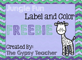 Jungle Fun Label and Color FREE [A Writing Activity for th