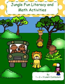Jungle Fun Preschool Literacy and Math Activities