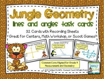 Jungle Geometry Task Cards: Lines and Angles