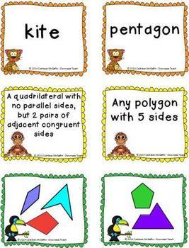 Jungle Geometry Vocabulary Cards: Polygons