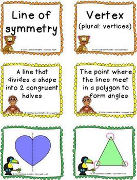 Jungle Geometry Vocabulary Cards: Polygons