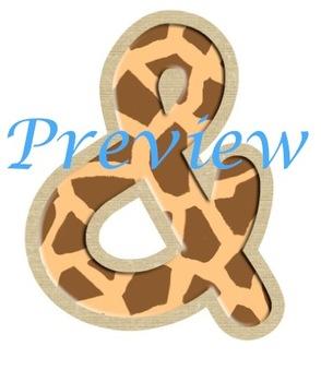 Jungle Giraffe Spots Alphabet Clip Art Set