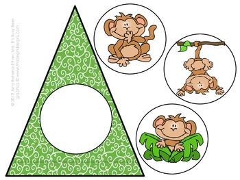 Jungle Green Monkey Pennant Banner