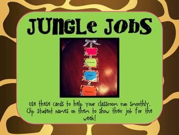 Jungle Helper Job Cards