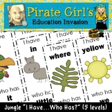"Jungle  ""I Have...Who Has?"" Packet"