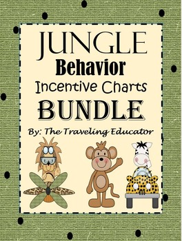 Incentive Charts Bundle with a Jungle Theme