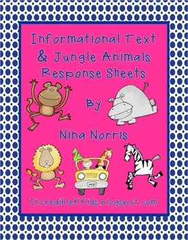Jungle Information Text - response Sheets
