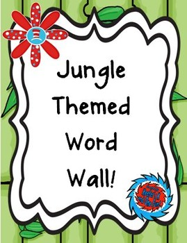 Jungle Inspired Word Wall