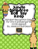 Jungle Jamboree Roll Say Keep: Alphabet Recognition (Commo