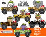 Jungle Jeeps Clip Art - Jungle Animal ClipArt - Safari Ani