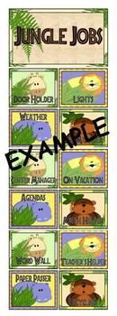 Jungle Jobs Classroom Helper Clip Chart