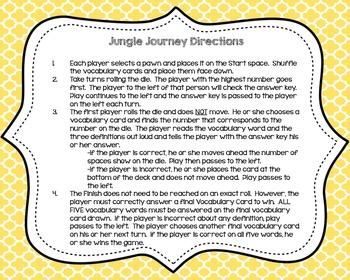Jungle Journey {A Vocabulary Game}