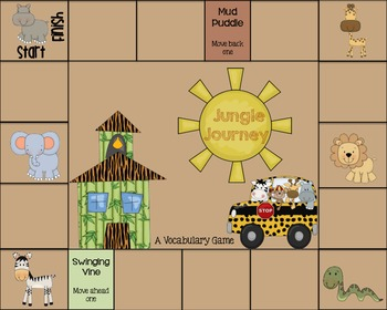 Jungle Journey {A Vocabulary Game}