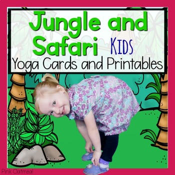 Jungle Kids Yoga Cards and Printables