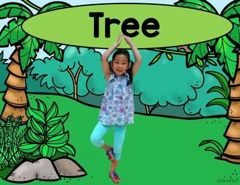 Jungle Kids Yoga Cards and Printables