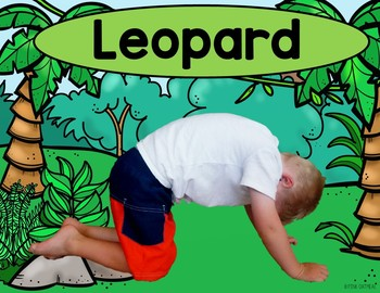 jungle kids yoga cards and printables  tpt