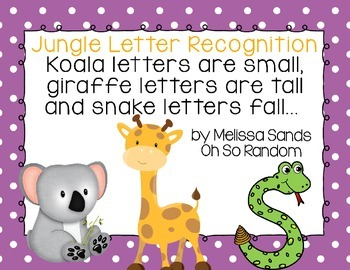 Jungle Letter Recognition {Click File, Print}