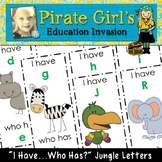 Jungle Letters Game (I Have..Who Has?)