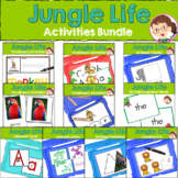 Jungle Activites Bundle for Preschool and PreK - ELA Liter