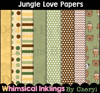 Jungle Love Digital Papers~Safari