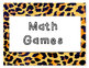 Jungle Math Daily 5 Posters