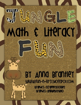 Jungle Math and Literacy Fun Center Packet