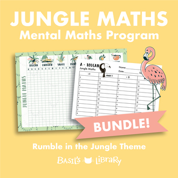 Mental Maths Program & Data Wall Display BUNDLE! | Rumble in the Jungle Theme
