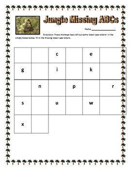 Jungle Missing ABCs