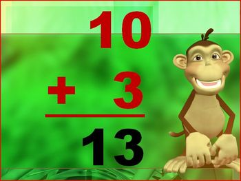 Jungle Monkey Addition Around the World Powerpoint Game