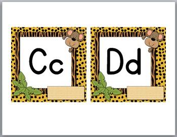 Jungle Theme Classroom Decor Monkey Word Wall Headers