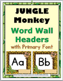Jungle Theme Classroom Decor Monkey Word Wall Letters
