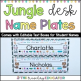 Desk Name Plates With a Jungle Theme