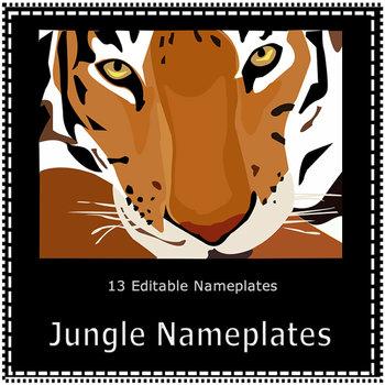 Jungle Name Plates