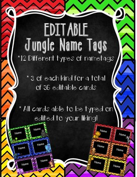 Jungle Name Tags