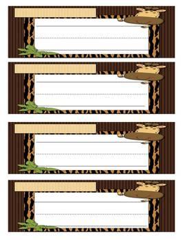 Nameplates for Desks (Jungle)