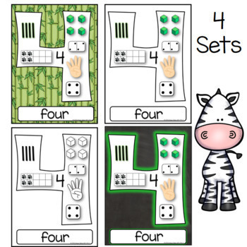 Jungle Number Anchor Charts Posters 0-20
