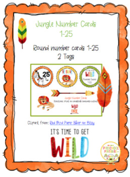 Jungle Number Cards