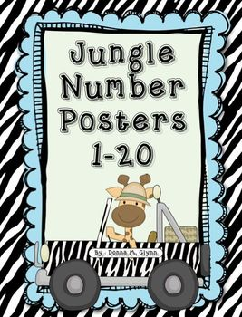 Jungle Number Posters 1-20