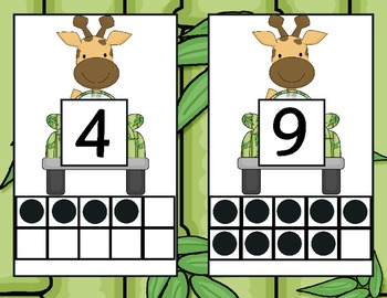 Jungle Number Unit 1-20: 8 complete centers and more!
