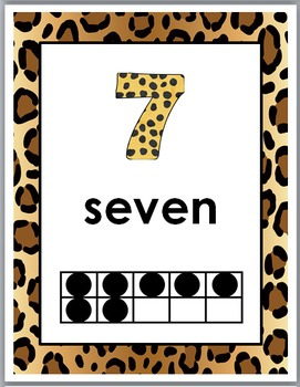 Jungle Theme Classroom Decor Ten Frame Number Posters 1-10