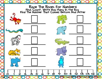 Jungle Numbers Write the Room Fun-Differentiated and Common Core Aligned
