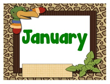 Jungle Peekers Months of the Year