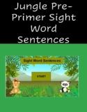 2021 Jungle Pre-Primer Sight Word sentences