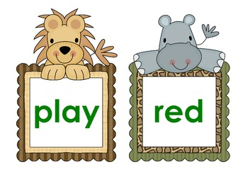 Jungle Pre-Primer Words and ABC Order