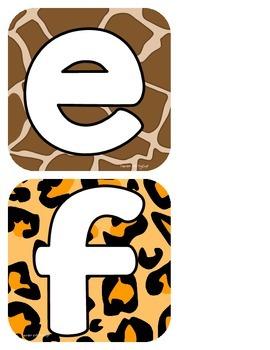 Jungle Print Alphabet