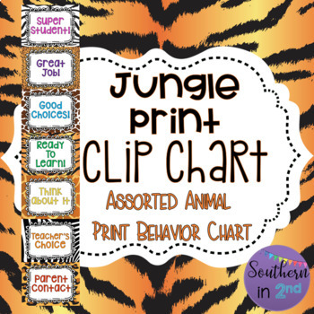 Jungle Print Behavior Chart