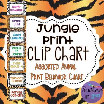 Jungle Print Behavior Chart {WITHOUT FACES}