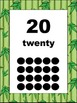 Jungle Print Bordered Number Cards 1-20
